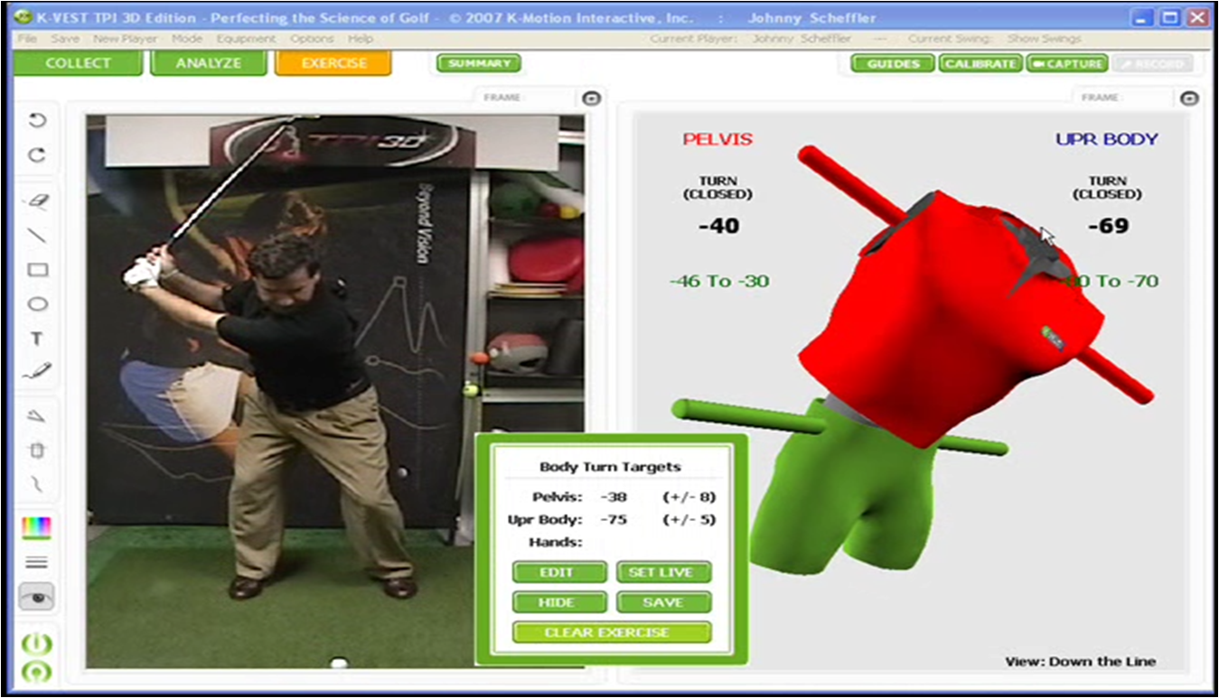 K-Vest 3D Swing Analyzer